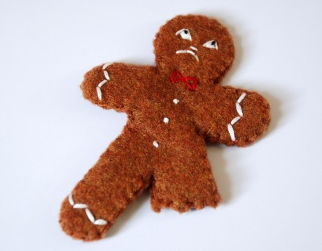 Bittersweets Angry Dismembered Gingerbread Man Christmas Ornament