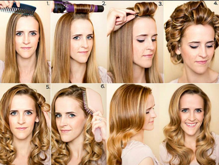 Как сделать красивые бигуди на средние волосы